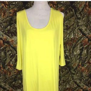 Lane Bryant Sheath Dress Plus Size 1X Split Sleeve